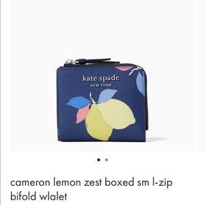 Cameron lemon zest boxed wallet